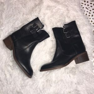 J. Crew Dean Ankle Boots with buckle detail